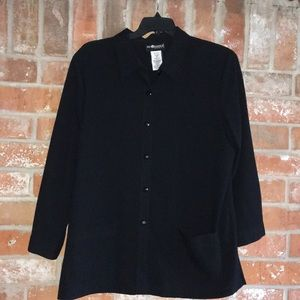 Classy Black Top/Jacket By Sag Harbor Plus 20
